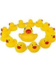 60 Pcs Mini Bathtime Rubber Ducks Bath Toys Baby Shower Duckies