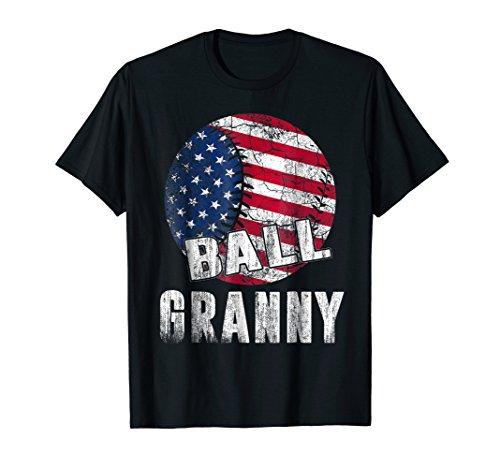 Vintage Granny - Vintage Baseball Softball Ball Granny American USA Flag Gift
