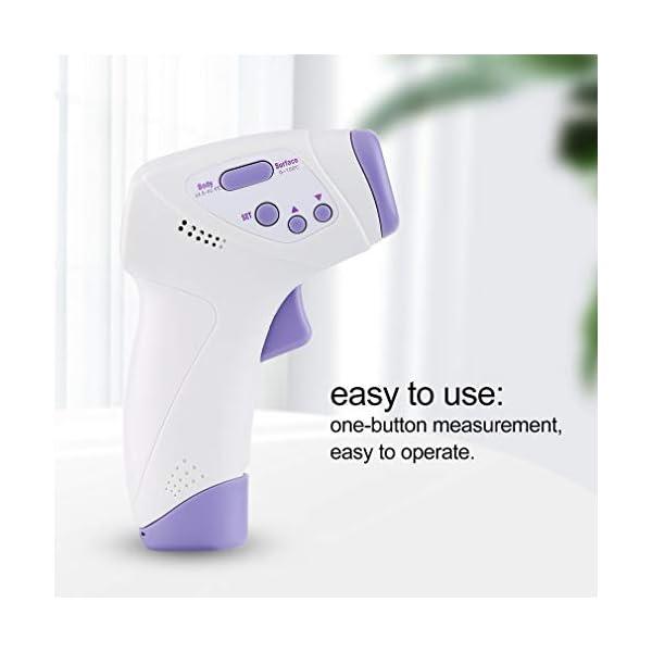 Homgrace Termómetro Frontal de Bebe Niños, lecturas precisas instantáneas, termómetro Digital infrarrojo sin Contacto Profesional, para bebés, niños, Adultos 6