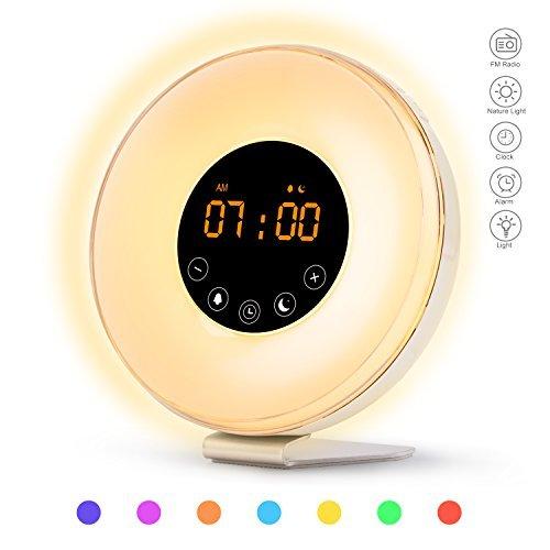 Sunrise Alarm Clock, Wake Up Light with Sunrise Sunset Simul
