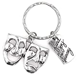 Find Joy in The Journey Comedy Tragedy Mask Theatre Keychain 112X