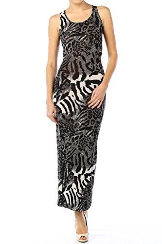 Zebra Print Maxi Dress - 9