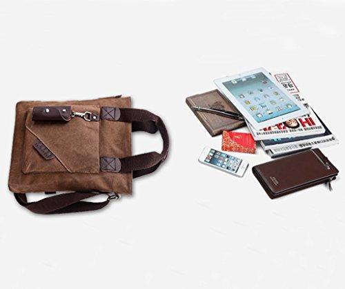 Super moderno vintage canvas Messenger Bag Bolsa de viaje de ocio bolsa de hombro Crossbody bolso, hombre, Armygreen Armygreen