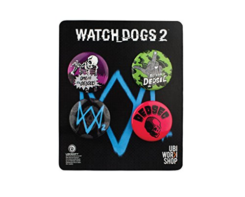 Ubi Workshop Watch Dogs 2 Pins Buttons Collection Set 2 Official Ubisoft Collection by