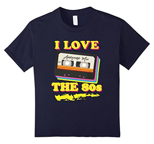 Cassette Tape Halloween Costume (Kids Funny 1980s Mix Tape Costume Halloween Party Theme T-shirt 12 Navy)
