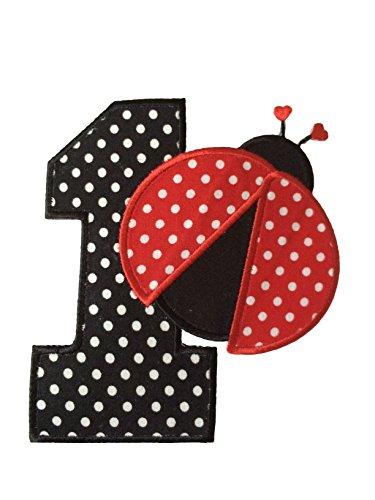 Danha Birthday Ladybug Appliqued Transfer
