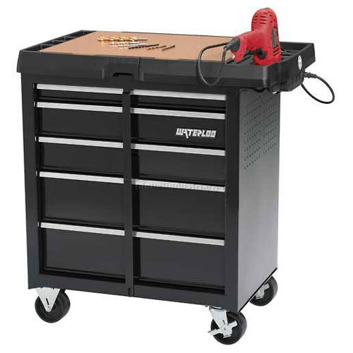 Waterloo 5-Drawer Project Center with Integrated Power Strip - Designed, Engineered and Assembled in the USA