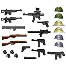 BrickArms 2.5 Scale World War II Weapons Pack Gunmetal Grenades Version