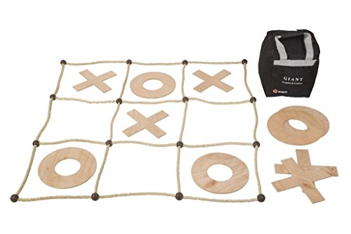 Uber Games Giant Tic Tac Toe Game - Hardwood by Uber Games