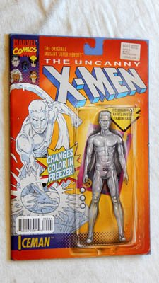 Iceman Marvel Comics - Uncanny X-Men #600 Iceman Christopher Action Figure Variant UNCIRCULATED Comic Book - Marvel Comics 2016 - NEW Grade 9.2 Has 1 Defect - Brian Michael Bendis