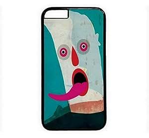 iPhone 4 4S Case, iCustomonline Creative Face Phase Designs Plastic Case for iPhone 4 4S Black