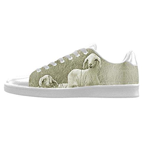 Chaussures De Toile De Mens Sheep Pattern Personnalisé Chaussures De Lacets De Haut Sur Les Espadrilles De Chaussures De Toile.