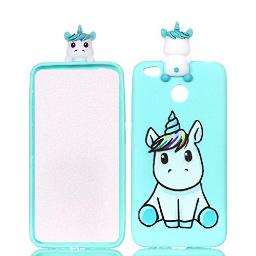 Xiaomi Redmi 4X Case,DAMONDY 3D Cartoon Animals Cute Pattern Soft Gel Silicone Slim Design Rubber Thin Protective Cover Phone Case for Xiaomi Redmi 4X-cute unicorn