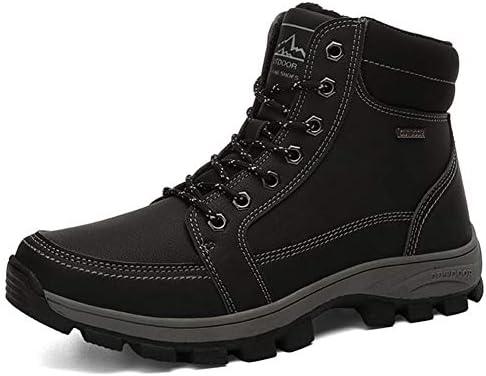 [スポンサー プロダクト][Dong] 歩きやすいワークブーツ メンズ スノーブーツ 滑り止め 通気 快適 高級靴 抗菌 防水 就活 通勤 普段用 紳士靴 裏起毛 黒 軽量 履きやすい ワーク靴 ウイングチップ ハイキングブーツデザートブーツ