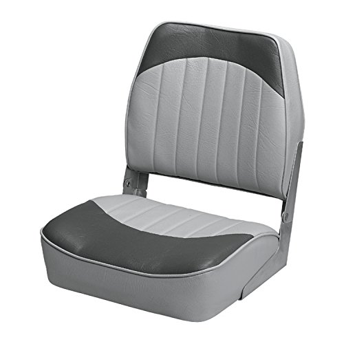 Wise 8WD734PLS-664 Low Back Boat Seat, Grey/Charcoal
