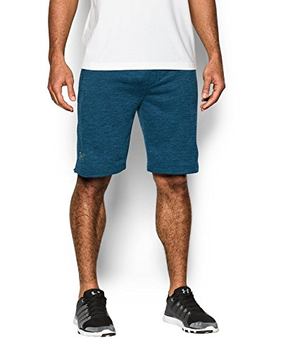 Under Armour Men's Tech Terry Shorts, Blackout Navy (997)/Silver, Small by Under Armour (Image #2)