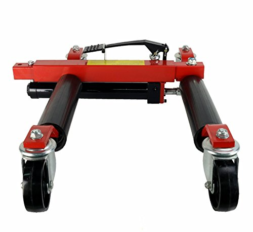 (4) Dragway Tools 12'' Hydraulic Wheel Dolly Vehicle Positioning Jack Lift Hoist with 1500 lb Capacity by Dragway Tools (Image #3)