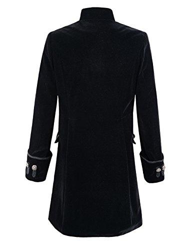 Mens Velvet Goth Steampunk Victorian Frock Coat 4