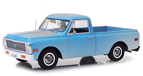 (1971 Chevrolet C-10 Pickup Truck Light Blue (Dusty) The Texas Chainsaw Massacre (1974) Movie 1/18 Diecast Model Car by Highway 61 18014)