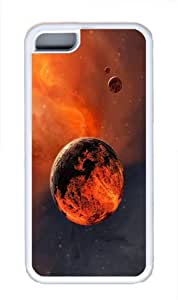 covers slim red planet TPU White Case for iphone 5C