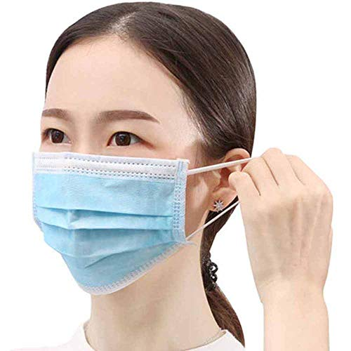 Disposable Mouth Face Mask 3 Layer Filter Masks Anti Dust Droplet Pollution Personal Protection Mask PM 2.5 Respirator 50 Pcs