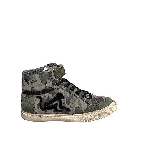 Camu Collo a Alto Sneaker Boston Camouflage DrunknMunky Bambino S5q1q