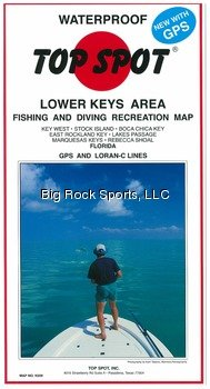 Top Spot N209 Map- Lower Key AreaKey West To Rebecca Shoal LORAN-C &