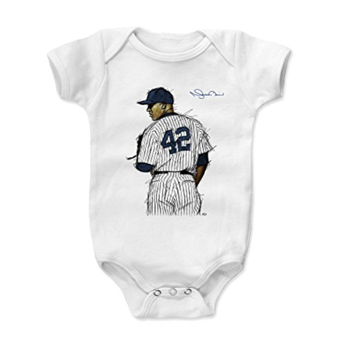500 LEVEL Mariano Rivera New York Yankees Baby Clothes, Onesie, Creeper, Bodysuit (3-6 Months, White) - Mariano Rivera Sig B
