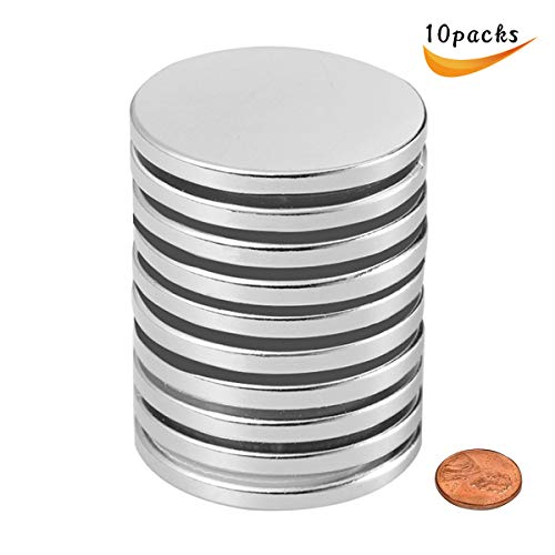 Wukong Rare Earth Disc Neodymium Magnets Powerful Permanent for Fridge, DIY, Building, Scientific, Craft, and Office Magnets, 1.26