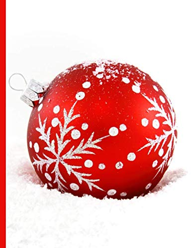 Shopping Notebook ~ Red Christmas Ornament Lying in a Bed of ()