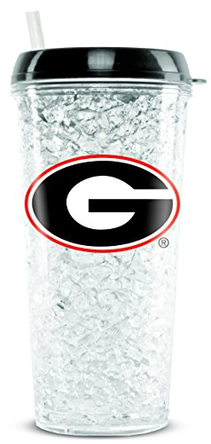 Duck House NCAA Georgia Bulldogs 16oz Crystal Freezer Tumbler with Lid and Straw - Georgia Bulldogs Ncaa Crystal