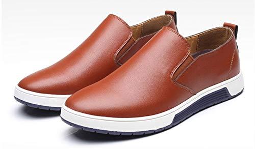 Inghilterra Marrone 48 Pelle casuale Bebete5858 Dimensione Grande Extra Uomo PU particolarmente stile scarpe Uomini scamosciato wHAB7