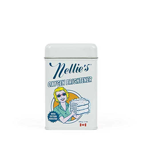 Nellie's Oxygen Brightener Powder Tin, 2 Pound - Removes Tough Stains, Dirt and Grime ()