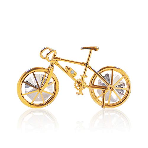 MASCOT 24K Gold Plated Bicycle with Crystal Embedded Ornament| Best Gift for -