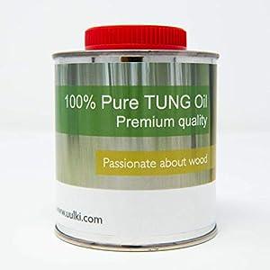 Uulki Olio di Tung 100% puro - Protezione per legno all'esterno - Per mobili da giardino, casa da giardino, recinzione, terrazza, ... (250 ml) 11 spesavip