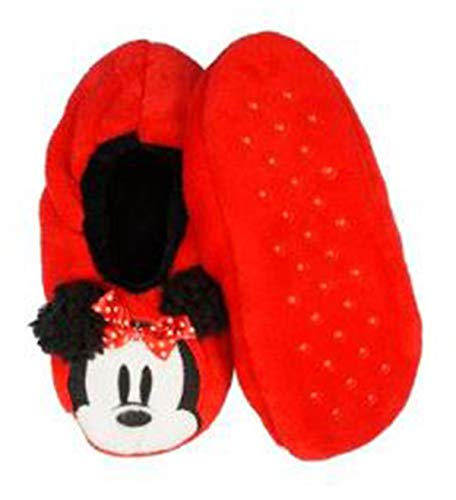 Womens Minnie Mouse Slipper Socks - Red (Size M-L) ()