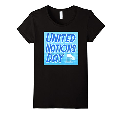United Nation Day Costume (Womens UN Day Flags United Nations Day Graphic Tshirt Tee XL Black)
