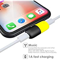 Penguin Tech 2 in 1 Splitter Cable Adapter 8 Pin to Dual 8 Pin Dual Headphone Jack Audio + Charge for Apple iPhone X XS XS Max 8 Plus 8 7 Plus 7