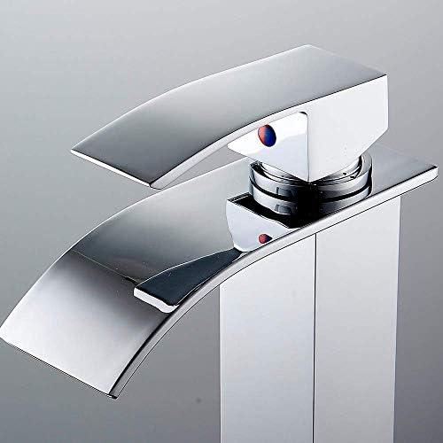 浴室の蛇口クロームモダンな高級浴室の蛇口の蛇口滝流域シンクミックス蛇口高品質現代の新しい