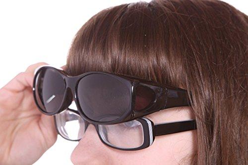 2da4eb2845 LensCovers Sunglasses - Wear Over Prescription Glasses. Size Small with  Polarization.