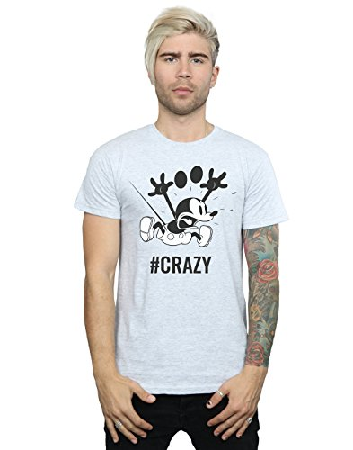 uomo Disney Mouse Mickey T da shirt grigio Anw0xnEUq