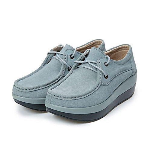 Chaussures Gris Occasionnels Avec Lacets Femmes WRcAMA4