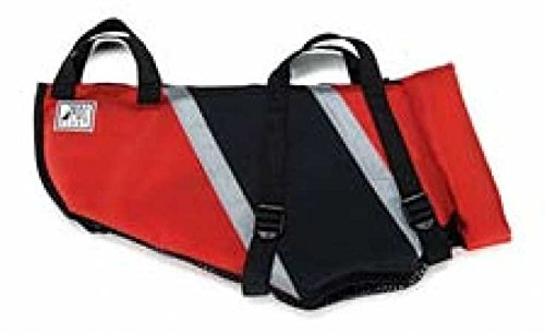 Premier Fido Float Dog Life Vest, Medium, Black/Red