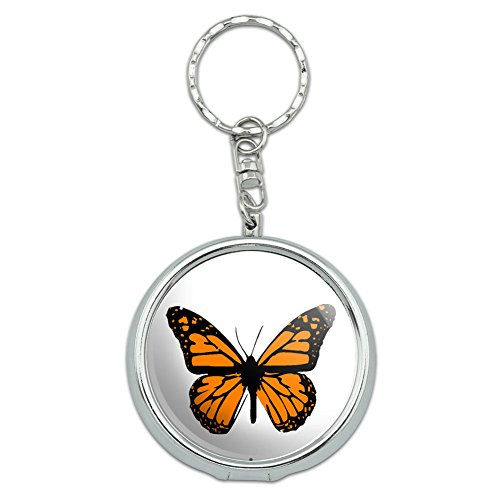 Portable Pocket Purse Ashtray Keychain Insects Ladybug Butterfly Dragonfly - Monarch Butterfly (Ash Tray Key Chain)