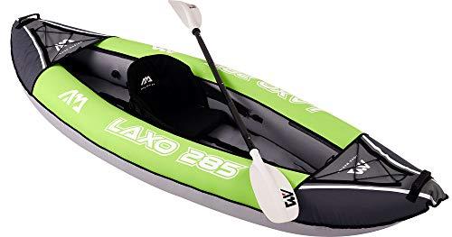 41 OfsFyVzL Aquamarina Unisex– Erwachsene Kayak 1 Posto Laxo-285 Kajak, Grün Schwarz, Uni