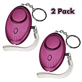 Safesound Personal Alarm Keychain 140DB SOS Emergency Alarm with LED Light, Self Defense Security Alarm Personal Alarms for Women Kids Elderly Students Night Workers & as Bag Decoration, 2 Pack Purple Review