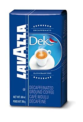 Lavazza Dek Ground Coffee Blend, Decaffeinated Dark Espresso Roast