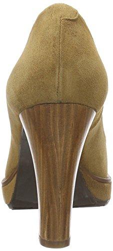 Marrón Zapatos 2640 Cerrada para Zinda Mujer con de Tacón Punta 6PnHFw