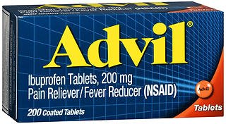 Advil Ibuprofen Pain Reliever/Fever Reducer, 200 mg Coated Tablets - 200 ct, Pack of 6