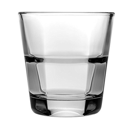 (Anchor Hocking 90262 Clarisse 8 Oz. Stackable Rocks Glass - 24 /)
